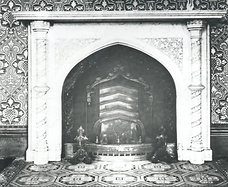 Abney Hall, interior view showing a fire