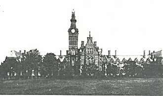 Barnes Hospital Cheadle, from a postcard