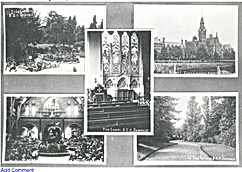 Barnes Hospital, 5 views from a postcard