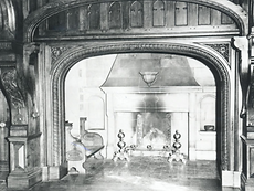 Abney Hall, a cosy area near the firepla