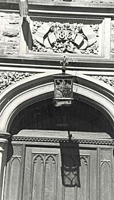Bruntwood Hall, detail of doorway 1989.p