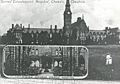 Barnes Hospital from a postcard sent in