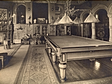 The billiard room at Abney Hall. This ro