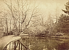 Abney Hall exterior, The pool in the gar