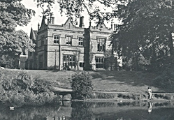 Abney Hall, view of the hall from the la