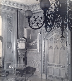 Abney Hall Library, unknown date, showin