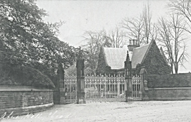 Abney Hall, view from Manchester Road. T