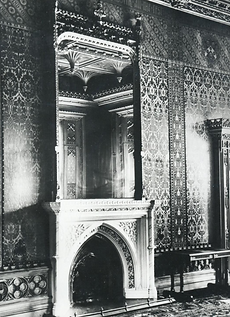 Abney Hall,  large mirror above fireplac