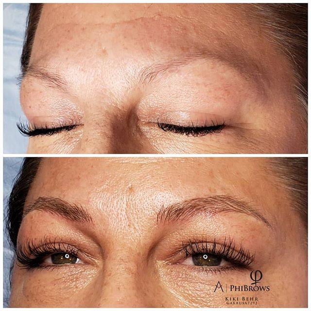 Another beautiful microblading treatment