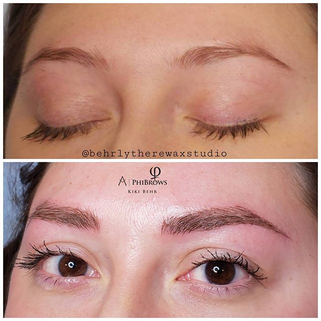 Microbladed brows! Made her brows a litt
