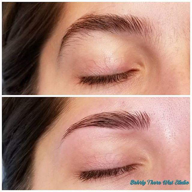 Perfect little brow wax #behrlytherewaxs