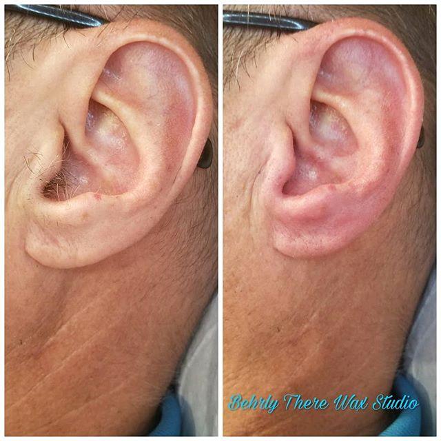 Yes I wax ears too! #behrlytherewaxstudi