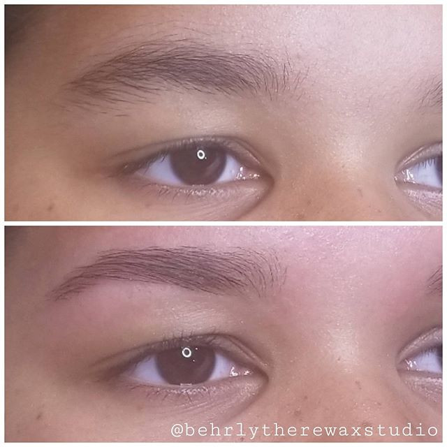 It was this beauty's first brow wax ever