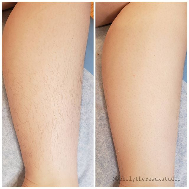 Lower leg wax! Perfect for this warmer w