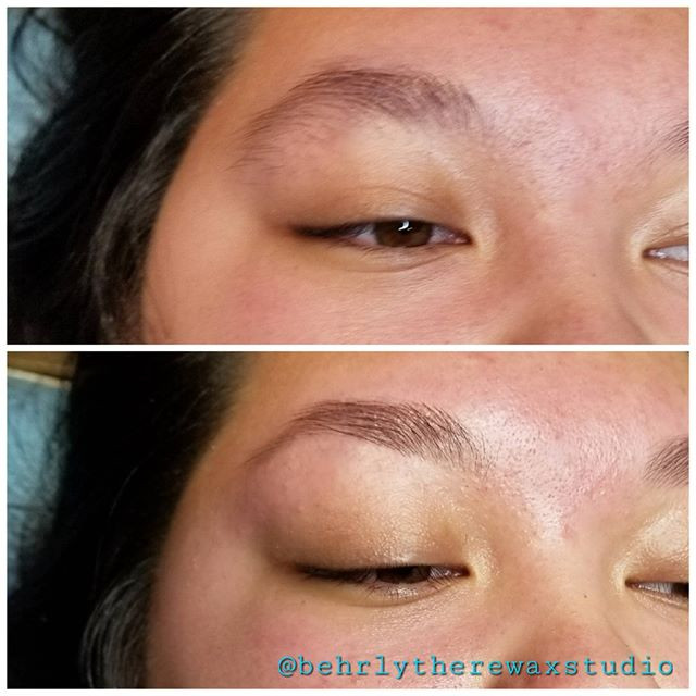 Brow shaping. Always nice to get a littl