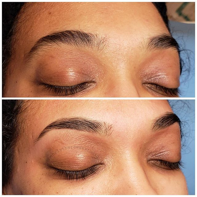 I love waxing brows that have never been