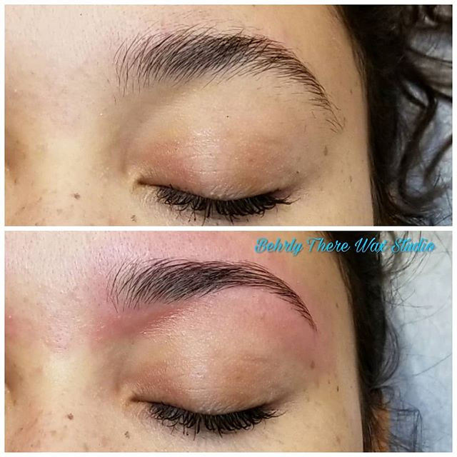 Before and after brow wax! #behrlytherew