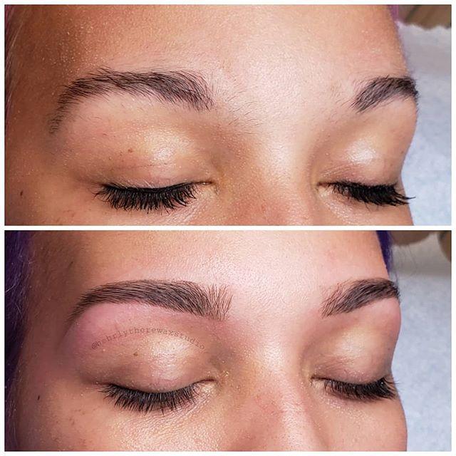 Look how beautiful this brow transformat