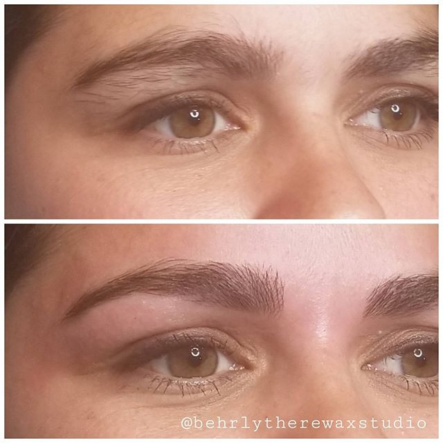 I love doing bold full brows! She has a