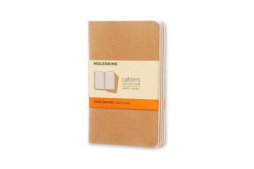 Moleskine Ruled Cahier - Kraft Cover (3 Set)       by Moleskine