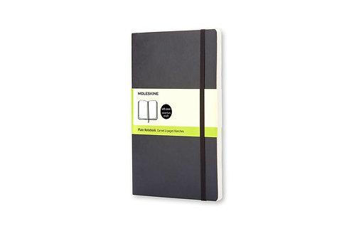Moleskine Soft Large Plain Notebook Black       by Moleskine