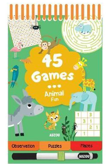 45 Games Animal Fun       by Auzou Publishing