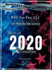 "RTS Tax Pro, LLC received ""Tax Preparation Service Best of 2020"" from Herndon Award Program 2 Consec"