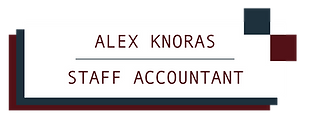 Alex Knoras, Staff Accountant