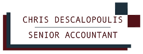 Chris Descalopoulis, Sr Accountant