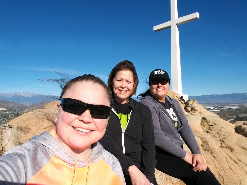 Lita, Maryann, and Mayra go on a hike!