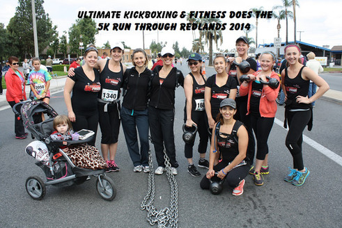 Members, Instructors, and their kids participate in Run Through Redlands