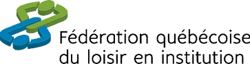 Logo de la Fédération québécoise du loisir en institution, un lien direct à leur site internet