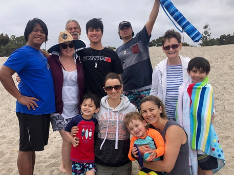Instructor Steph and family including member and cousin Tami, sister Kelly