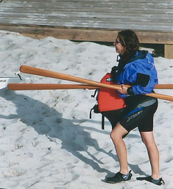 laura is ready to paddle
