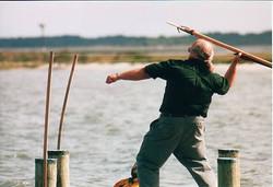 Dad aims harpoon 2