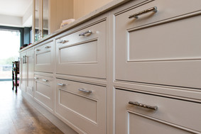 Quality kitchen fitted in Cove after the original building was damaged in a fire and removed.