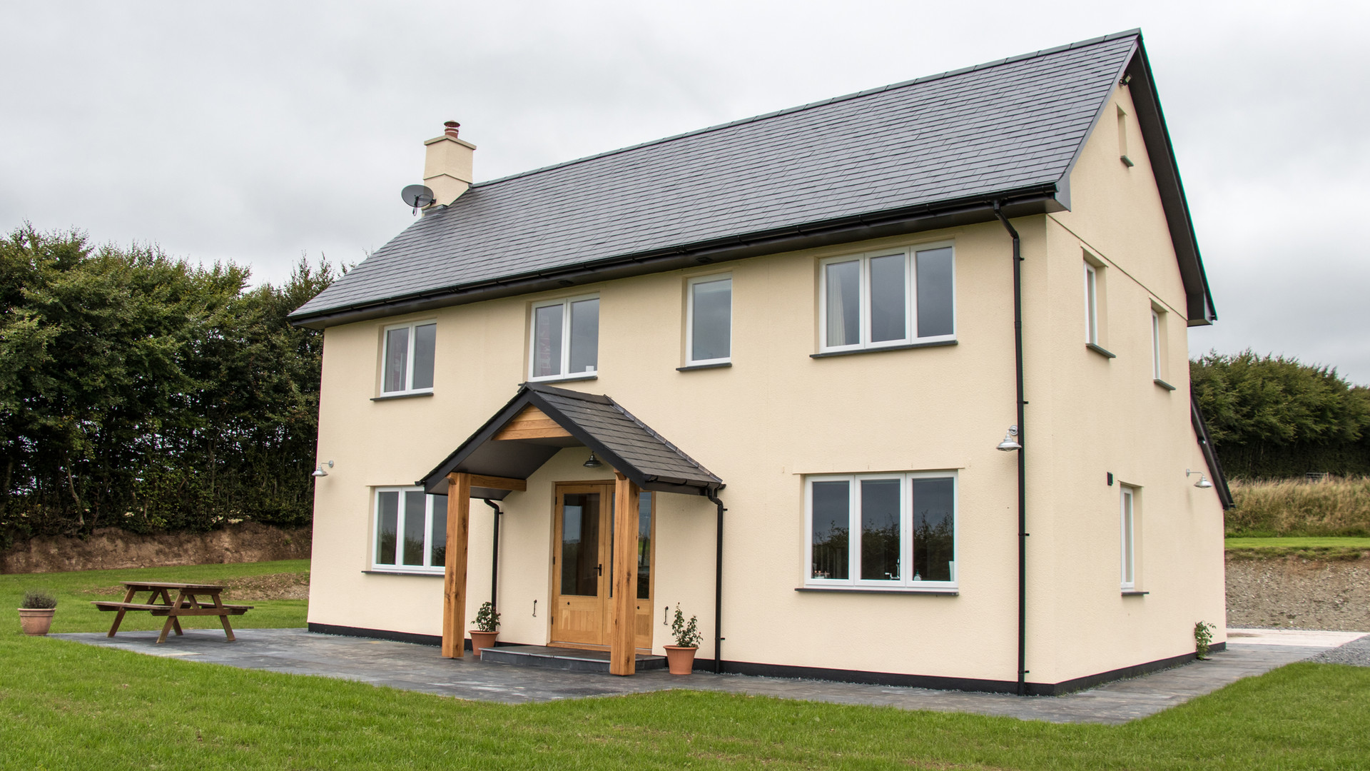 Higher Goosemoor new build on Exmoor by Ware Construction