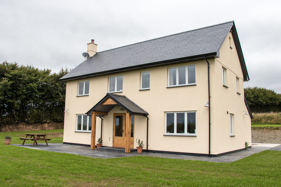 Working for a local Exmoor farmer, this was a rare opportunity to construct a new build house in the middle of Exmoor.