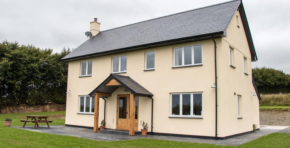 Higher Goosemoor new build on Exmoor by Ware Construction