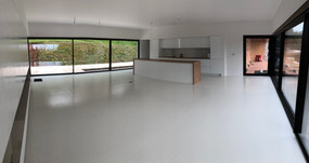 Open plan living with kitchen area