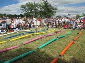 Dunster Country Fair Village Green - Ferret racing fun!