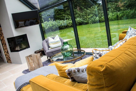 A glass link was made to join the barns and add to the high-end feel for the guest accommodation.