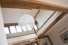 Ware Construction worked with specialist aluminium and glazing contractors to create the feeling of light and space throughout the property, particularly in the entrance hall.