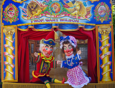 Dunster Country Fair Village Green - Punch and Judy