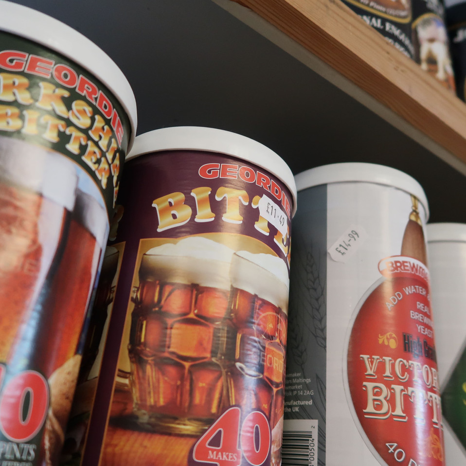 Brew your own beer kits available at Stuart Lowen Farm Shop
