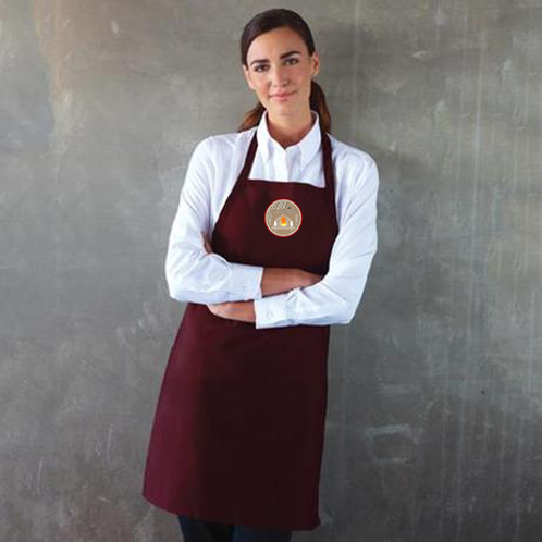 All Things Edible Burgundy Apron