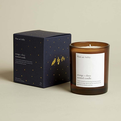 PLUM + ASHBY ORANGE AND CLOVE CANDLE