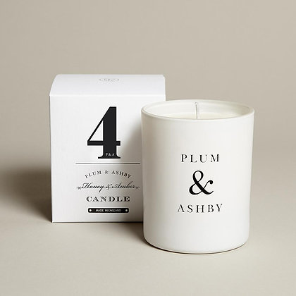 PLUM + ASHBY HONEY AND AMBER CANDLE