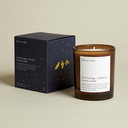 PLUM + ASHBY SPICED ORANGE AND RED BERRY CANDLE