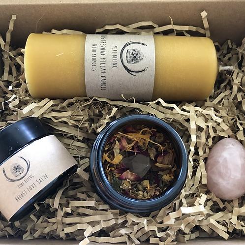 Self love kit with Rose quartz yoni egg